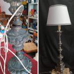 restauro lampada prima e dopo